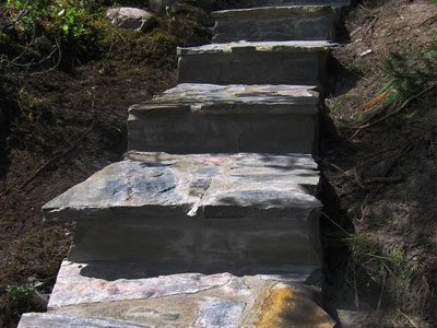 Entrances & Stairs - Natural Stone Veniered Steps