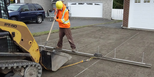 Interlock Driveways - Custom Screed System