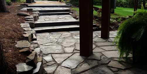 Entrances & Stairs - Natural Stone Stairway